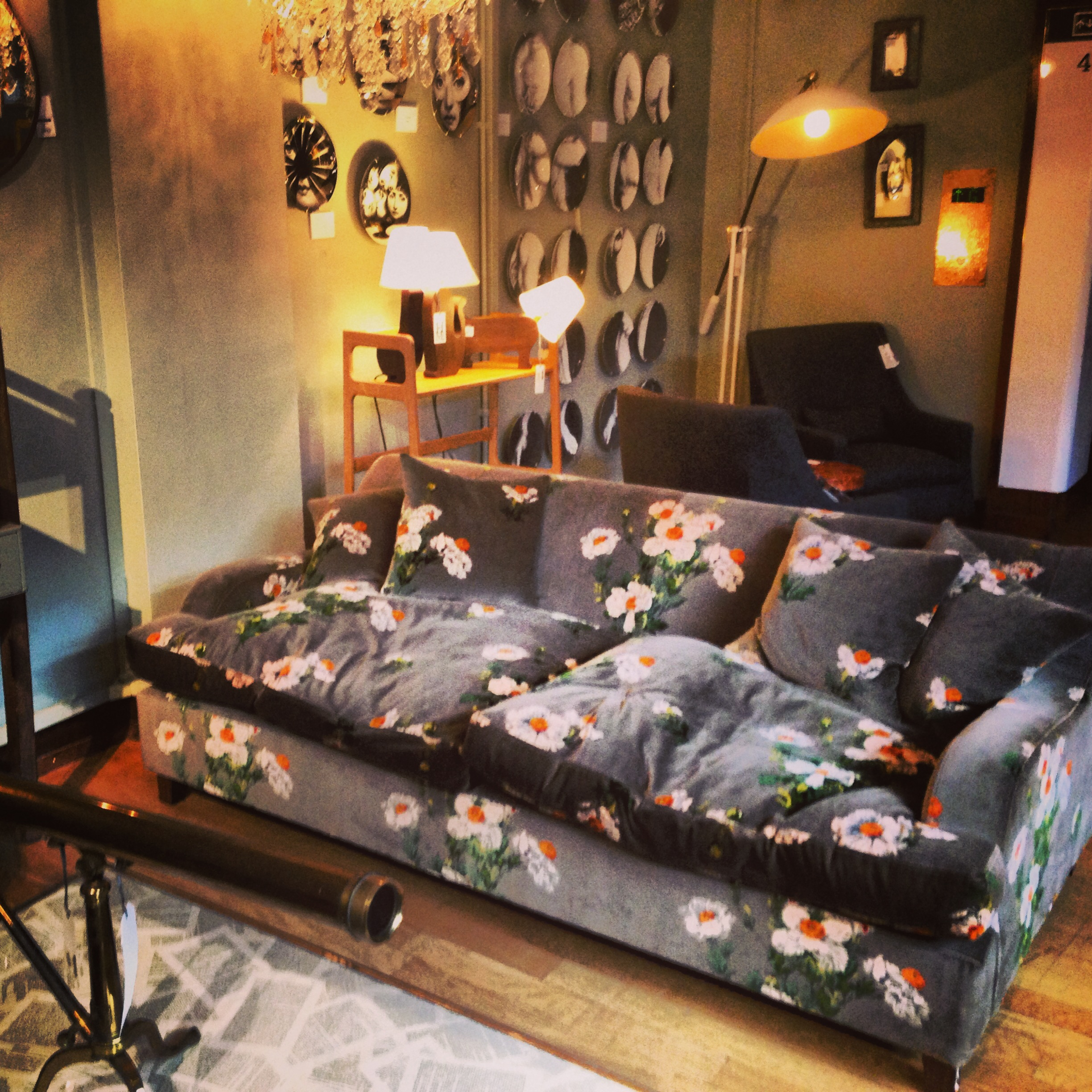 liberty london store shop floor patterned sofa telescope 2013