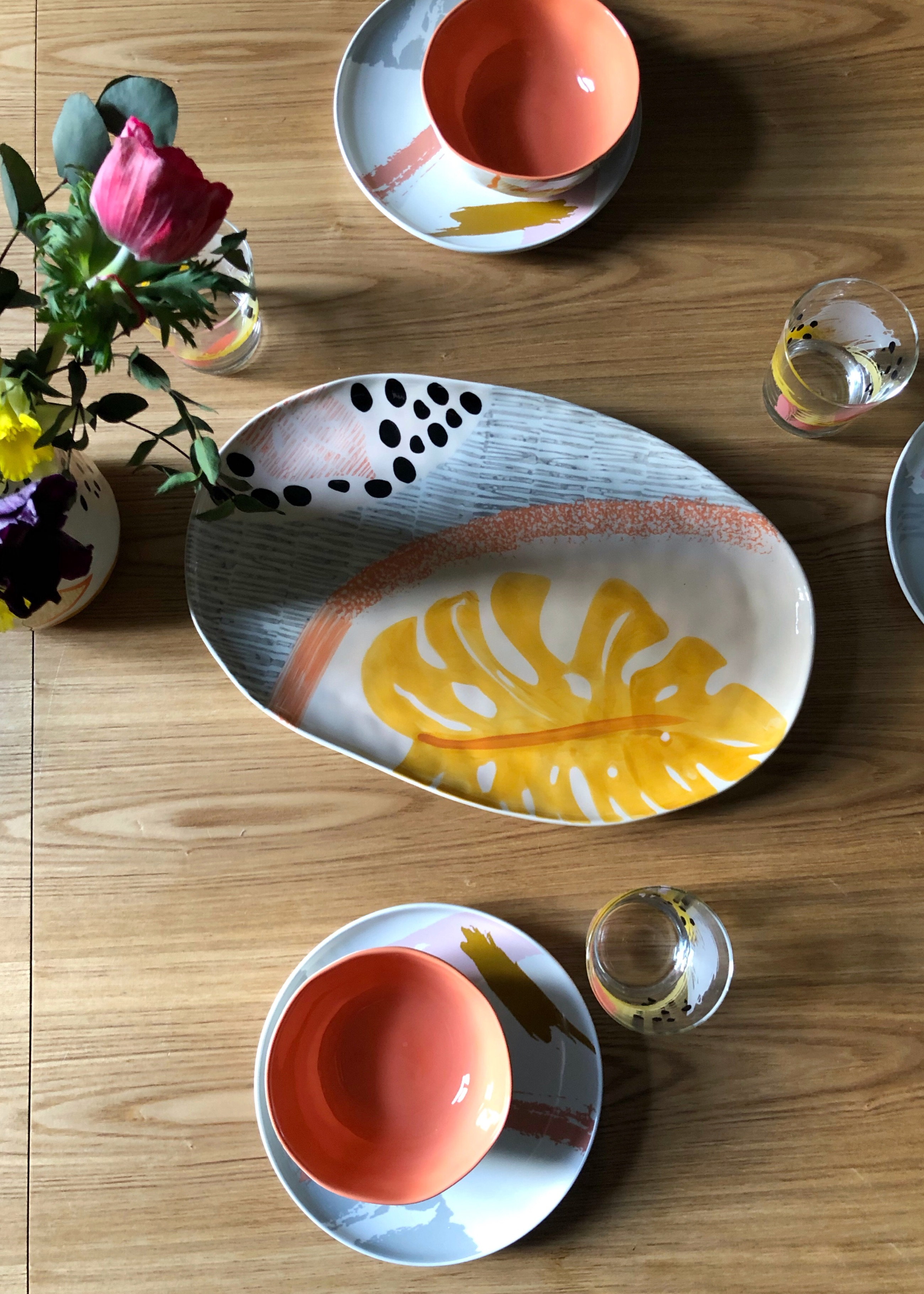 Marks Spencer Botanical Spring Dining Ideas With Hand Painted Mark Making Ceramics Made In Portugal Interiors Ideas And Inspiration 17 Design Soda Interiors Blog Colour Pattern Patina